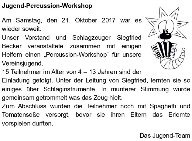 Jugend-Percussion-Workshop
